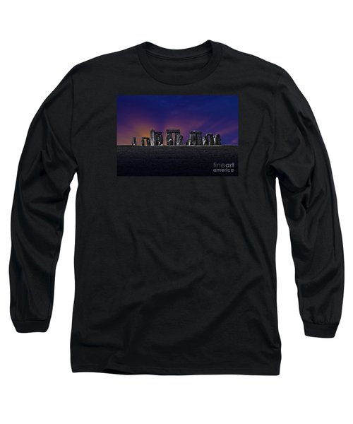 Long Sleeve T-Shirt featuring the photograph Stonehenge Looking Moody by Terri Waters