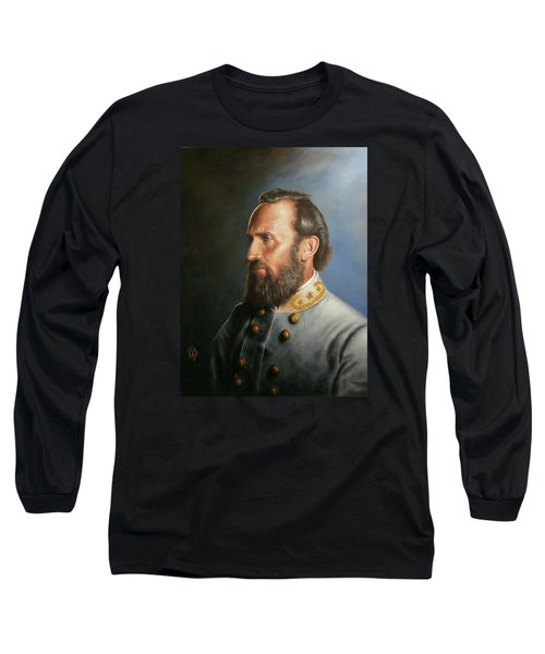 Long Sleeve T-Shirt featuring the painting Stonewall Jackson by Glenn Beasley