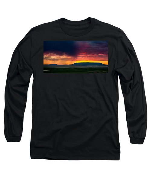 Storm Clouds Over Square Butte Long Sleeve T-Shirt