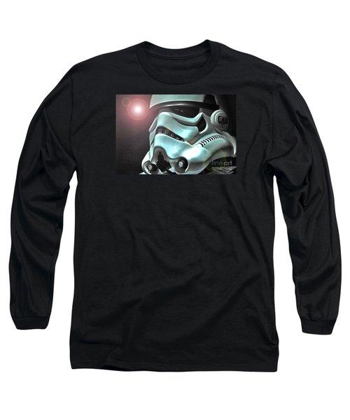 Stormtrooper Helmet 27 Long Sleeve T-Shirt by Micah May