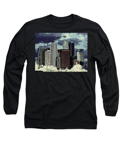 stormy Los Angeles from the freeway Long Sleeve T-Shirt by Jodie Marie Anne Richardson Traugott          aka jm-ART