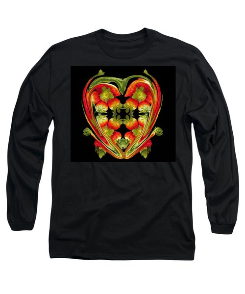 Strawberry Heart Long Sleeve T-Shirt