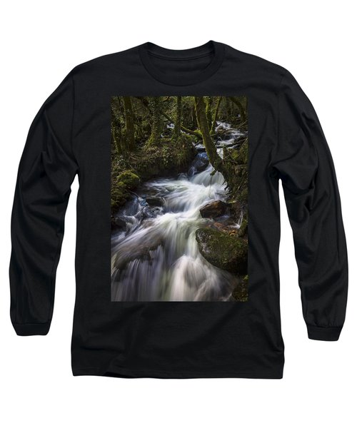 Long Sleeve T-Shirt featuring the photograph Stream On Eume River Galicia Spain by Pablo Avanzini
