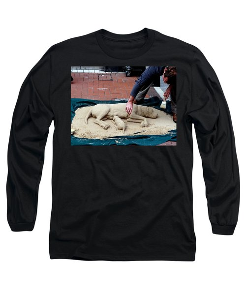 Street Artist Long Sleeve T-Shirt by Richard Rosenshein