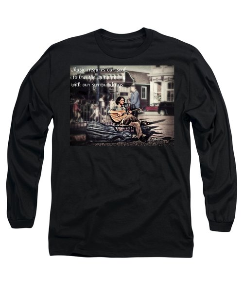 Long Sleeve T-Shirt featuring the photograph Street Beats Inspiration by Melanie Lankford Photography