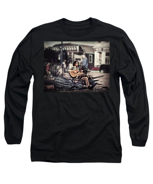 Long Sleeve T-Shirt featuring the photograph Street Beats by Melanie Lankford Photography