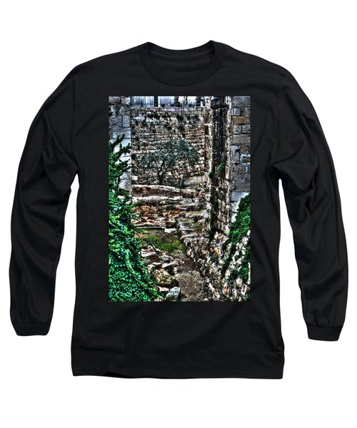 Long Sleeve T-Shirt featuring the photograph Street In Jerusalem by Doc Braham