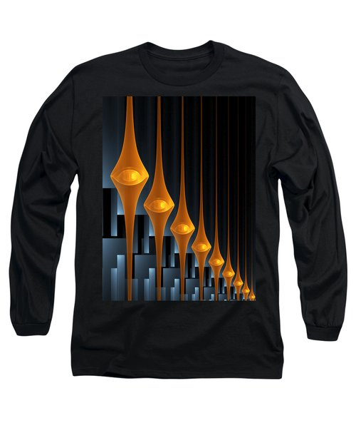 Long Sleeve T-Shirt featuring the digital art Street Lights by Gabiw Art