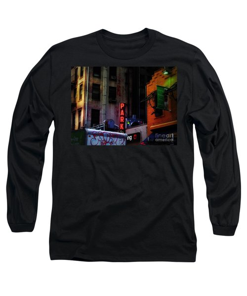Long Sleeve T-Shirt featuring the photograph Graffiti And Grand Old Buildings by Miriam Danar