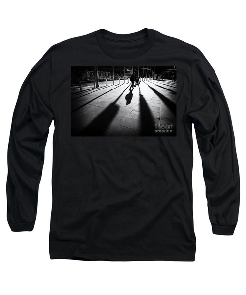 Long Sleeve T-Shirt featuring the photograph Street Shadow by Yew Kwang