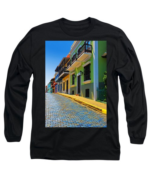 Streets Of Old San Juan Long Sleeve T-Shirt by Stephen Anderson