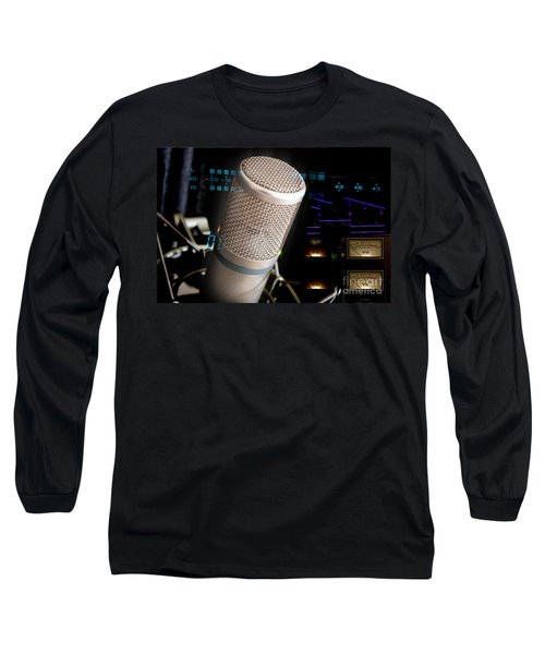 Long Sleeve T-Shirt featuring the photograph Studio Microphone And Recording Gear by Gunter Nezhoda