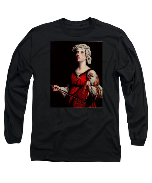 Study Of St. Cecelia Long Sleeve T-Shirt by Donna Tucker