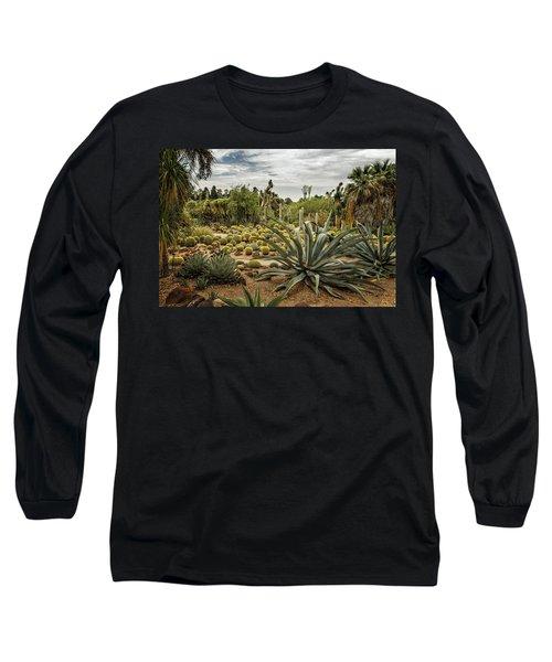 Succulents At Huntington Desert Garden No. 3 Long Sleeve T-Shirt