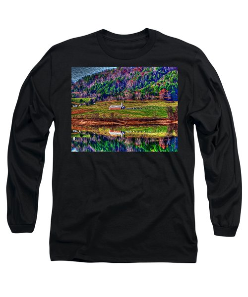 Sugar Grove Reflections 2 Long Sleeve T-Shirt by Tom Culver