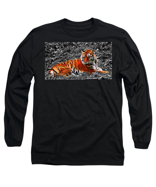 Long Sleeve T-Shirt featuring the photograph Sumatran Tiger by Davandra Cribbie