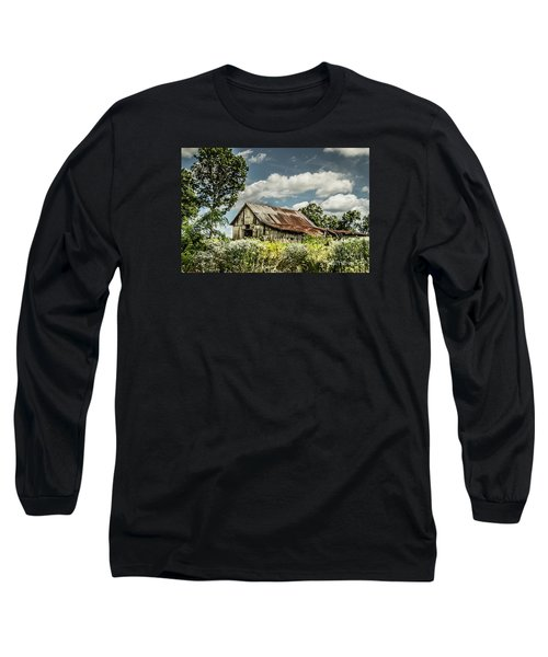 Long Sleeve T-Shirt featuring the photograph Summer Barn by Debbie Green