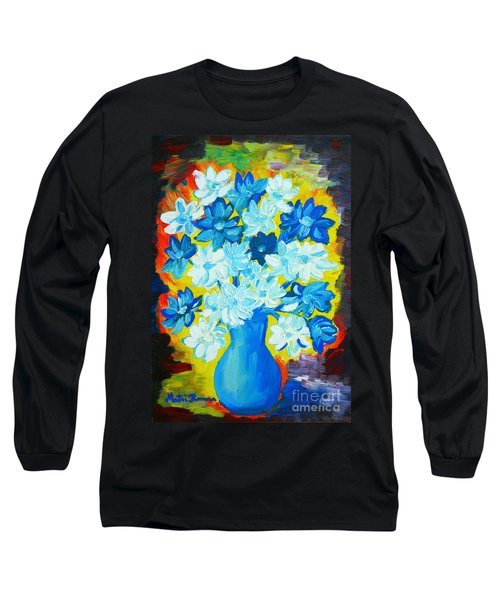 Long Sleeve T-Shirt featuring the painting Summer Daisies by Ramona Matei