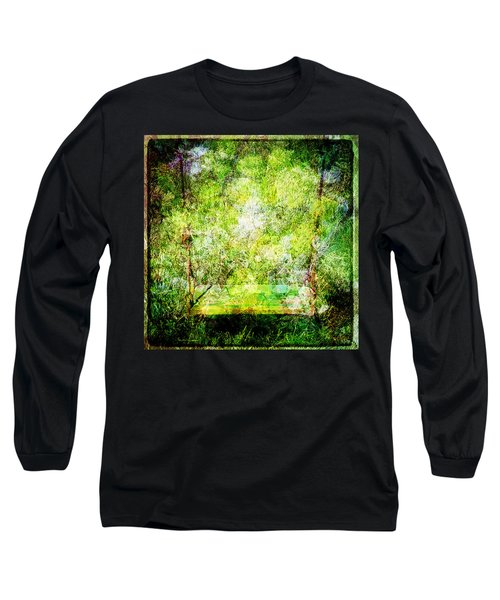 Long Sleeve T-Shirt featuring the mixed media Summer Days Of Yore #1 by Sandy MacGowan