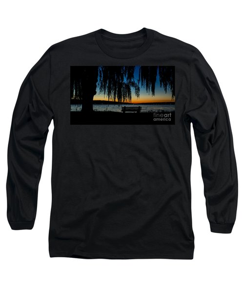 Summer Evening At Stewart Park Long Sleeve T-Shirt