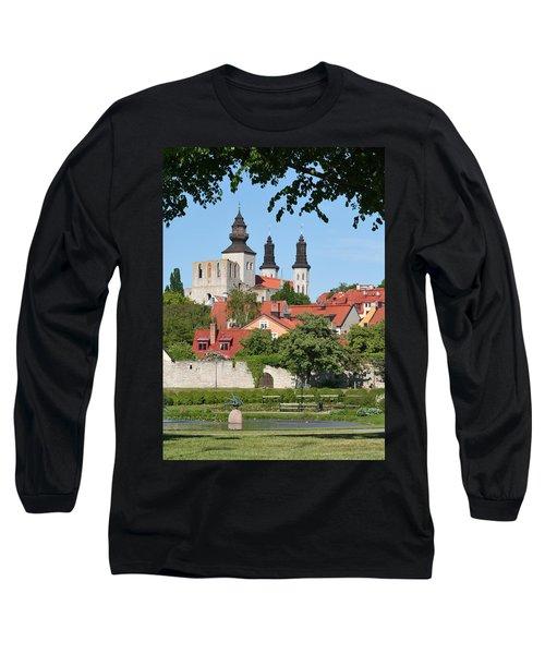 Summer Green Medieval Town Long Sleeve T-Shirt