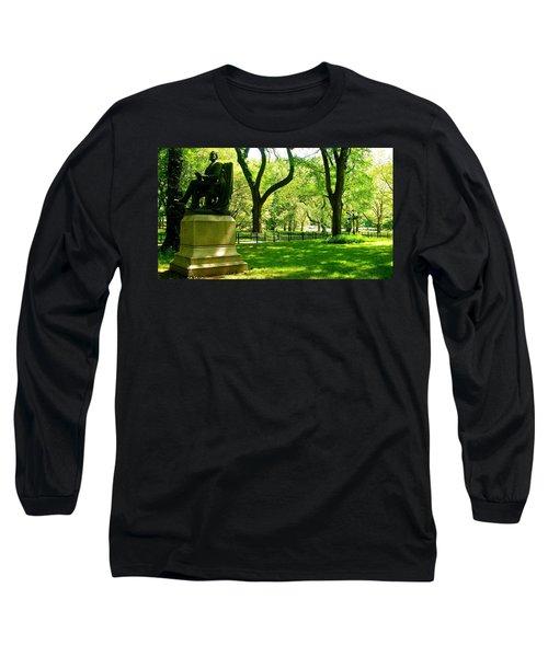 Summer In Central Park Manhattan Long Sleeve T-Shirt