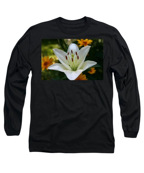 Long Sleeve T-Shirt featuring the photograph Summer Lily by Denyse Duhaime