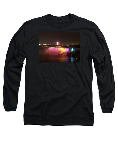 Summer Night In Niagara Falls Long Sleeve T-Shirt