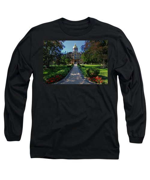 Summer On Notre Dame Campus Long Sleeve T-Shirt