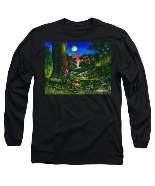 Summer Twilight In The Forest Long Sleeve T-Shirt