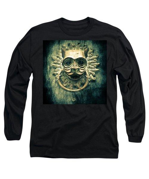 Sun Cat Door Knocker Long Sleeve T-Shirt