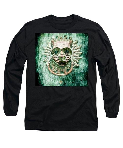 Sun Cat Door Knocker Old Polar Long Sleeve T-Shirt