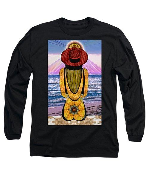 Sun Girl's Back Long Sleeve T-Shirt by Joseph J Stevens