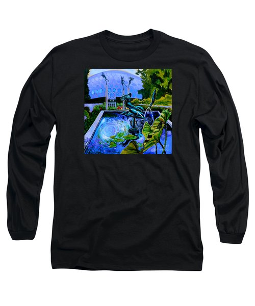 Sun Glitter Mermaid At Missouri Botanical Garden Long Sleeve T-Shirt