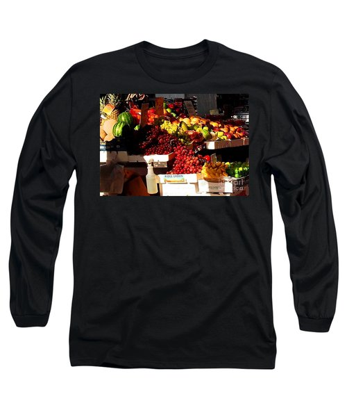 Long Sleeve T-Shirt featuring the photograph Sun On Fruit Close Up by Miriam Danar