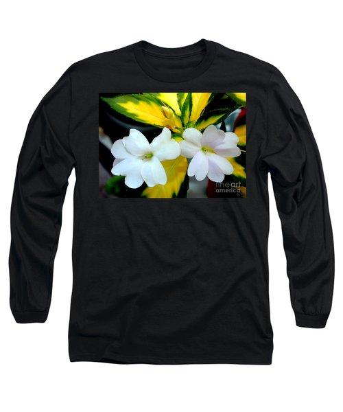 Sun Patiens Spreading White Variagated Long Sleeve T-Shirt