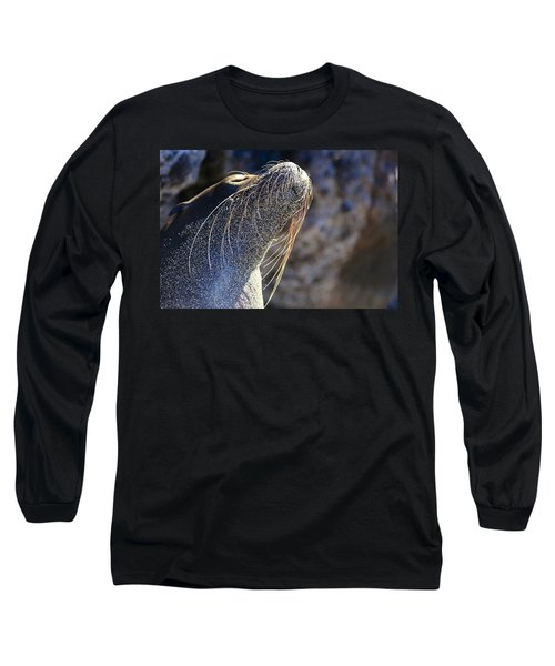 Sunbathing Galapagos Sea Lion Long Sleeve T-Shirt