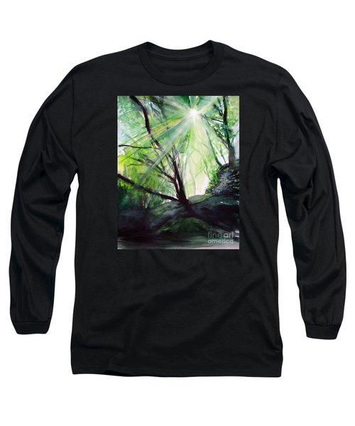 Long Sleeve T-Shirt featuring the painting Sunbeans Of Grace by Allison Ashton