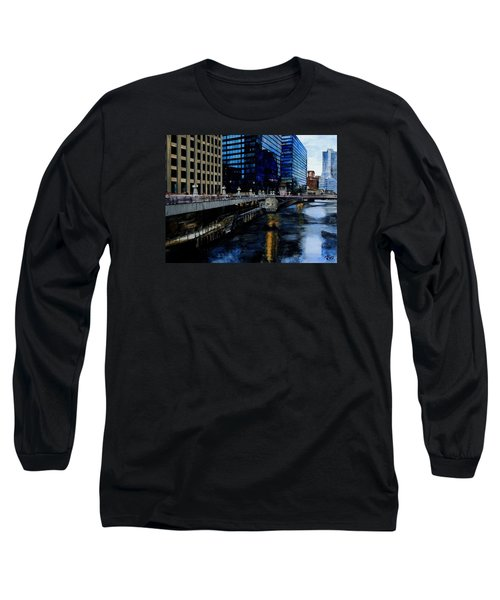 Sunday Morning In January- Chicago Long Sleeve T-Shirt by Raymond Perez