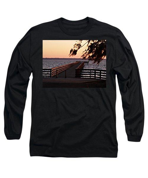 Sundown At Shands Dock Long Sleeve T-Shirt