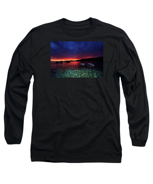 Long Sleeve T-Shirt featuring the photograph Sundown In Lake Tahoe by Sean Sarsfield