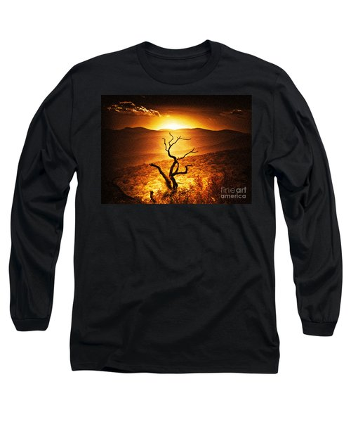 Sundown In The Mountains Long Sleeve T-Shirt by Lydia Holly