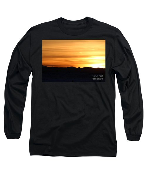 Long Sleeve T-Shirt featuring the photograph Sundre Sunset by Ann E Robson