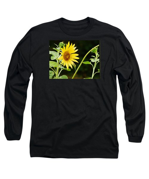 Long Sleeve T-Shirt featuring the photograph Sunflower Cheer by VLee Watson
