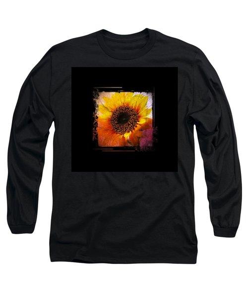 Sunflower Sunset - Art Nouveau  Long Sleeve T-Shirt by Absinthe Art By Michelle LeAnn Scott