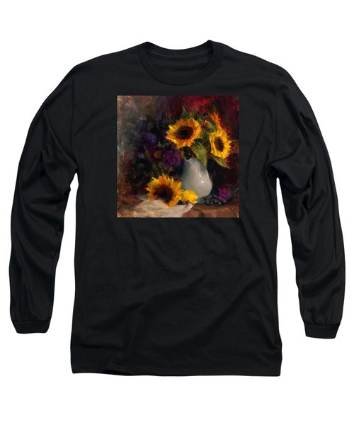 Sunflowers And Porcelain Still Life Long Sleeve T-Shirt