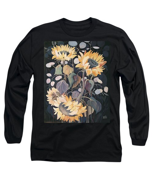 Sunflowers' Symphony Long Sleeve T-Shirt by Marina Gnetetsky