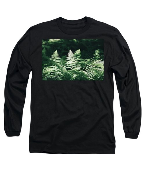 Long Sleeve T-Shirt featuring the photograph Sunlight And Shadows-algonquin Ferns by David Porteus
