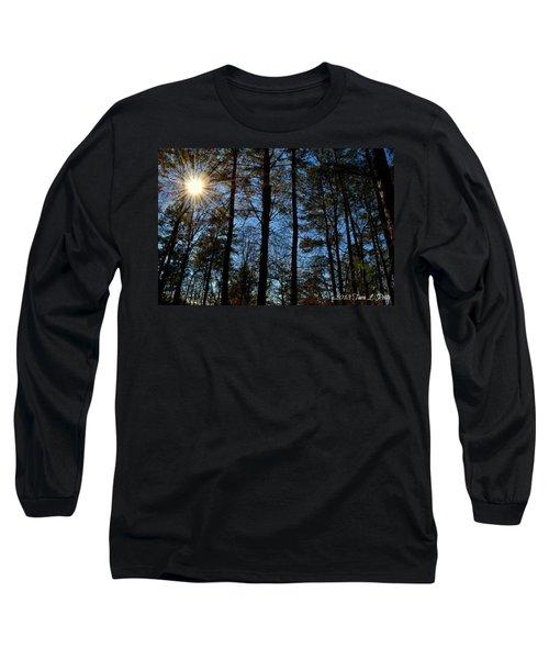 Long Sleeve T-Shirt featuring the photograph Sunlight Through Trees by Tara Potts