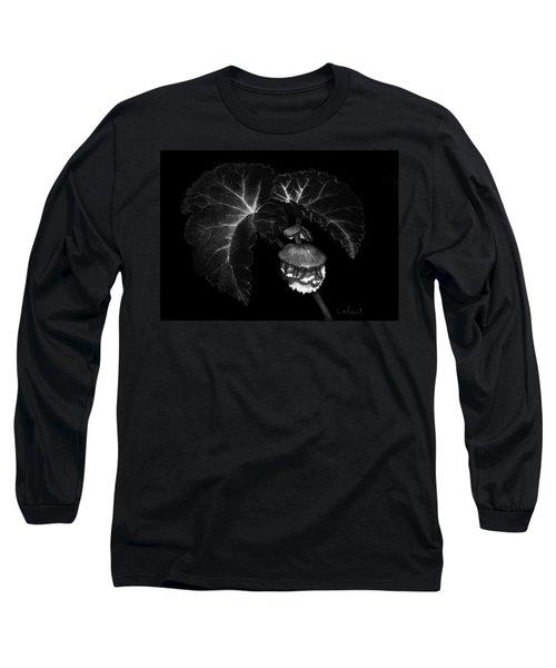Sunlit Begonia Long Sleeve T-Shirt by Sandra LaFaut